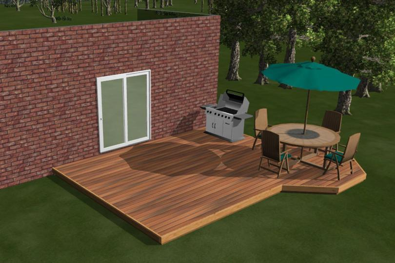 Ground level deck plans no steps design and ideas for Ground level deck plans pdf