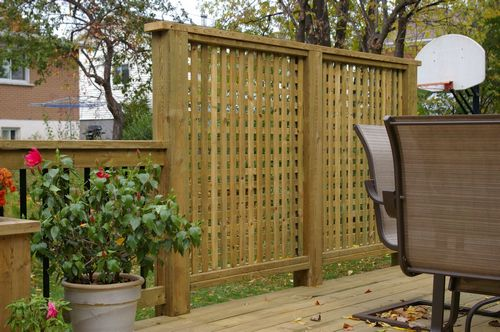 Ideas for patio privacy screens design and ideas for Backyard screening ideas