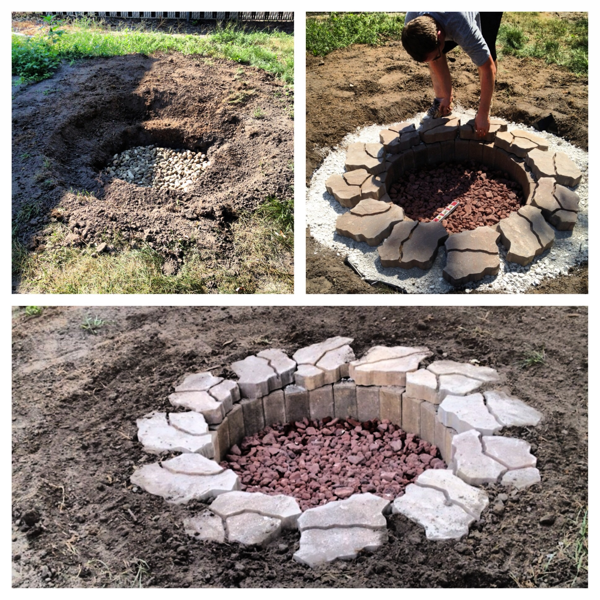 In Ground Fire Pit With Seating Design And Ideas