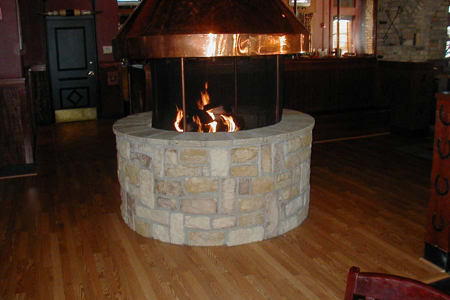 indoor fire pit chimney