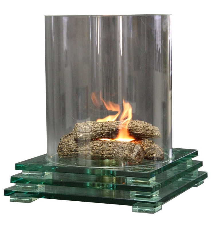 indoor fire pit glass