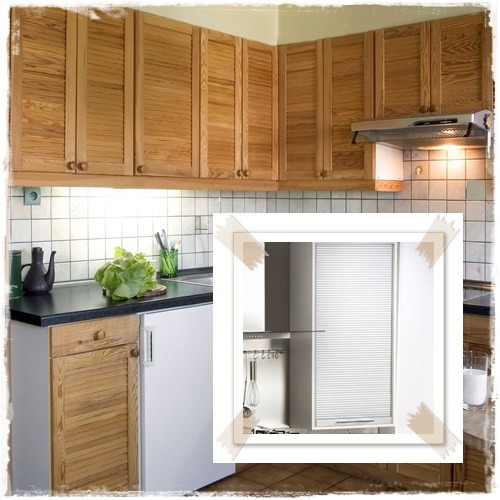 Louvered Kitchen Cabinets | MF Cabinets