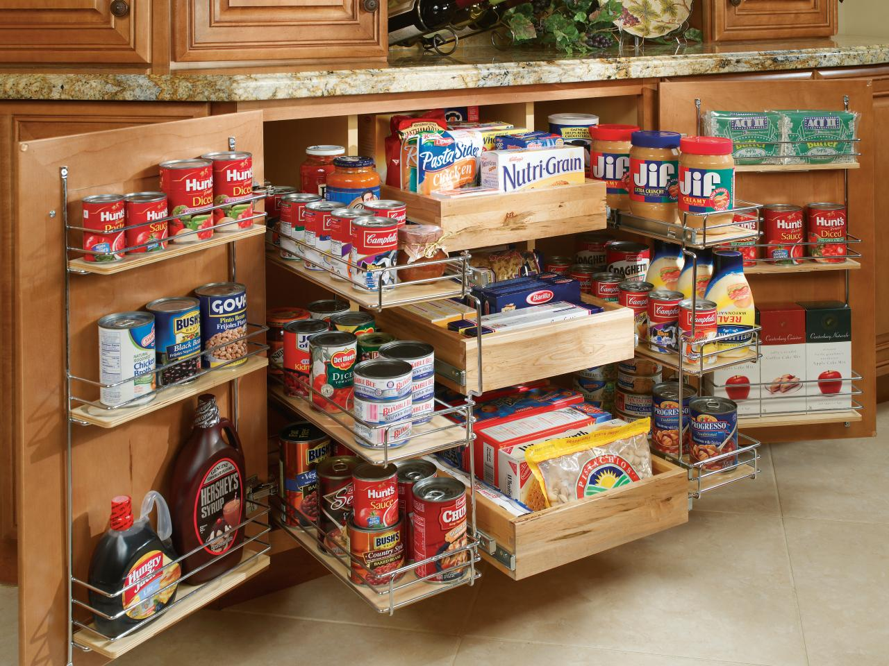 kitchen cabinet type  Creative storage spaces