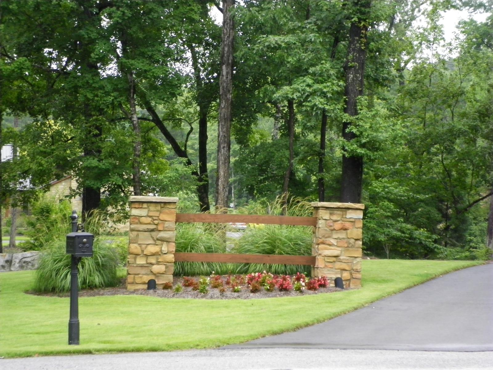 landscaping a driveway entrance pictures