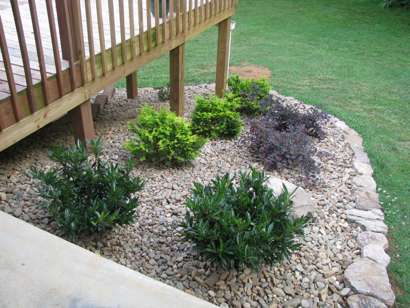 Landscaping with rocks around house design and ideas for Landscaping around house