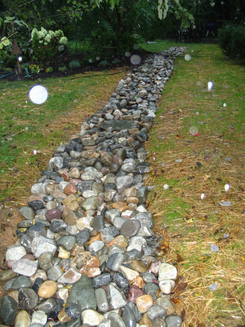 landscaping with rocks for drainage design and ideas