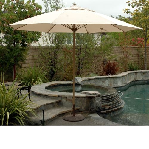Attractive Large Canvas Patio Umbrellas Photo   2