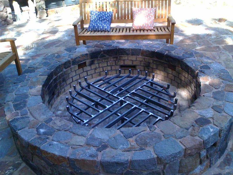 large fire pit grate - Large Fire Pit Grill » Design And Ideas