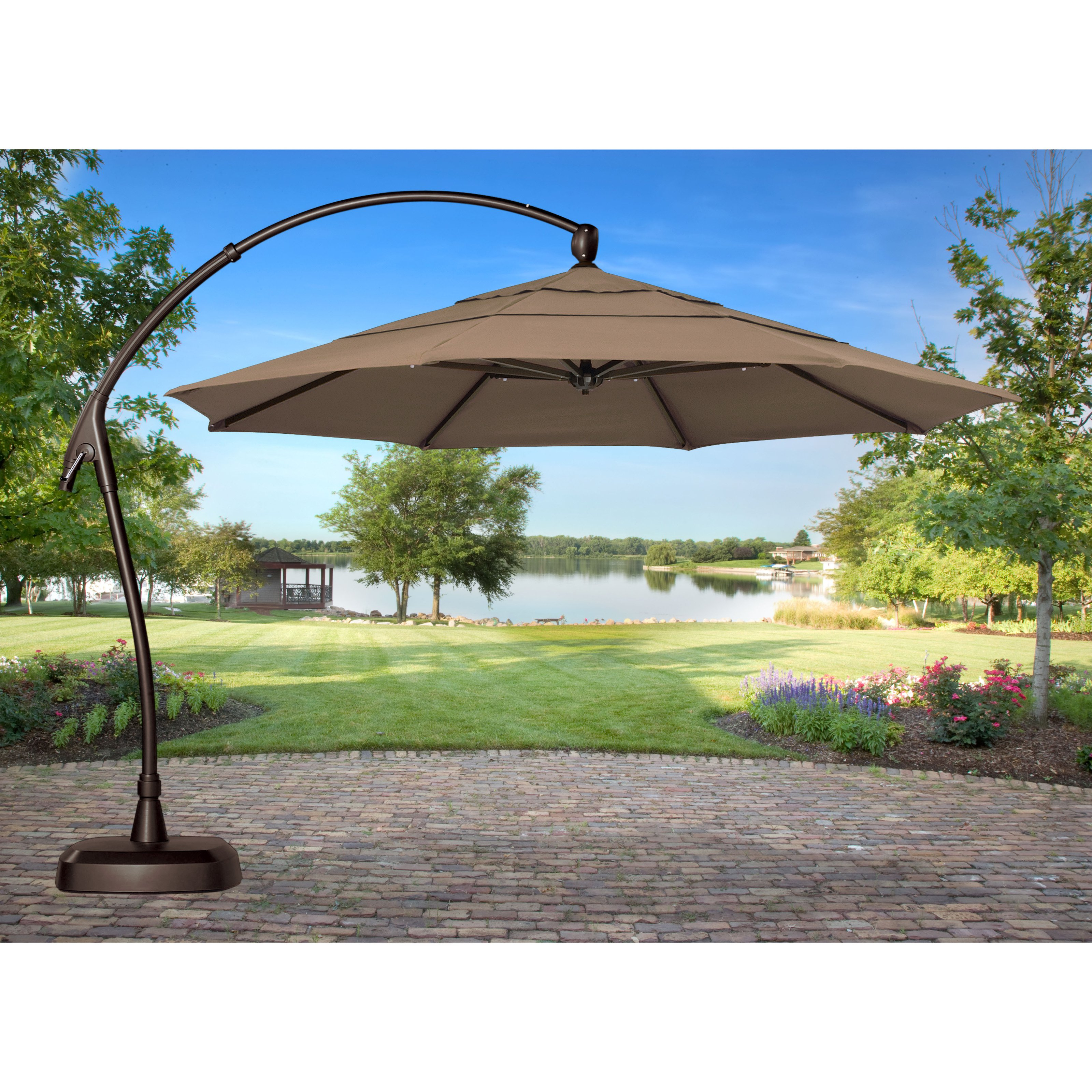 Marvelous Large Patio Umbrellas Cantilever