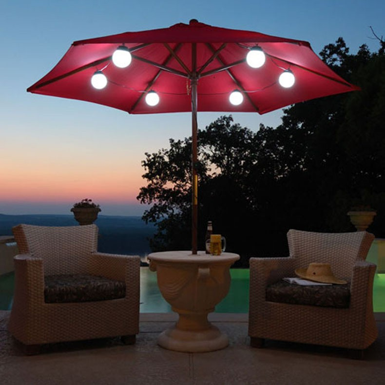Led lights patio umbrella design and ideas led patio lights review mozeypictures Images