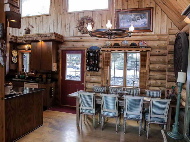 lodge style home bar