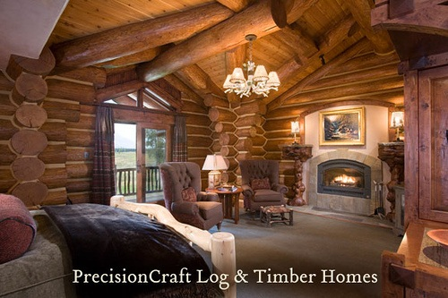 log cabin bedroom designs