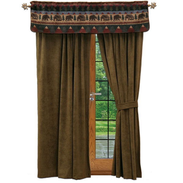 log cabin curtains drapes