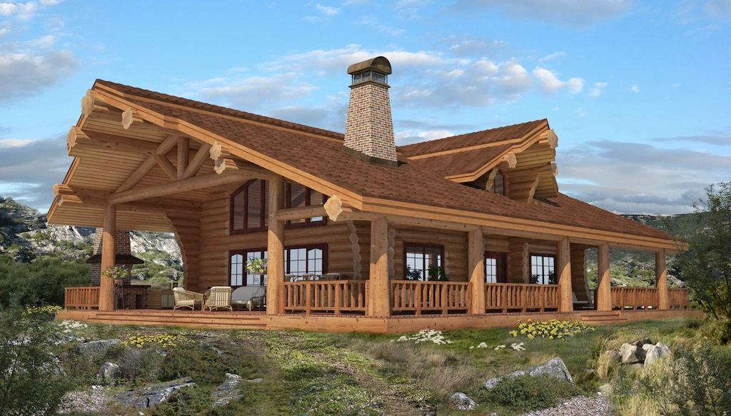 Small log cabin plans canada for Free home plans canada