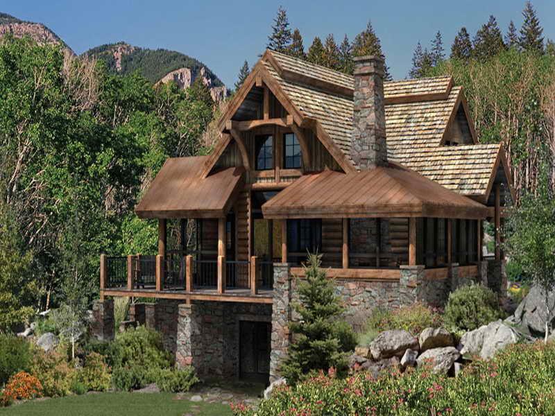 marvelous luxury log cabin kits #2: Log Cabin Designs Plans