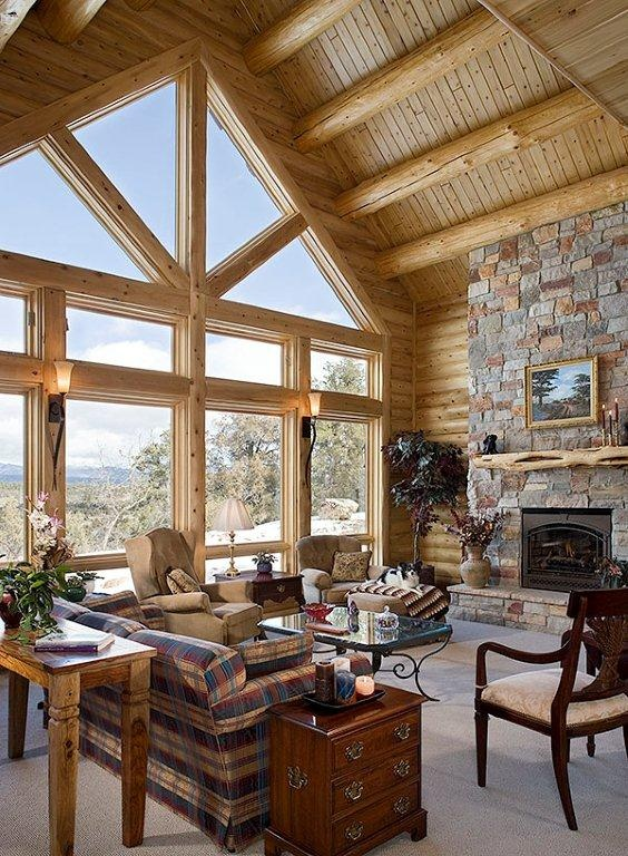 Log cabin interior design ideas design and ideas for Decorate log cabin interior
