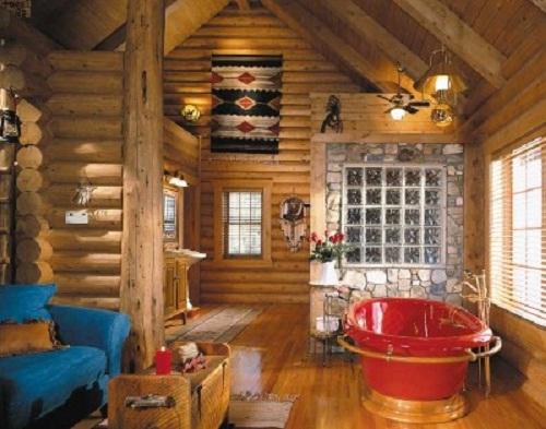 Log Cabin Style Home Decor Photo