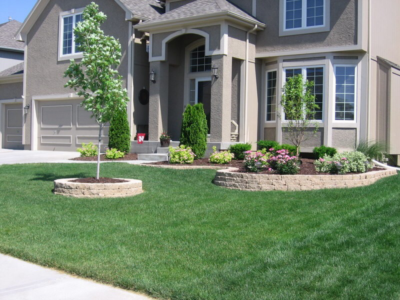 low maintenance landscaping around house
