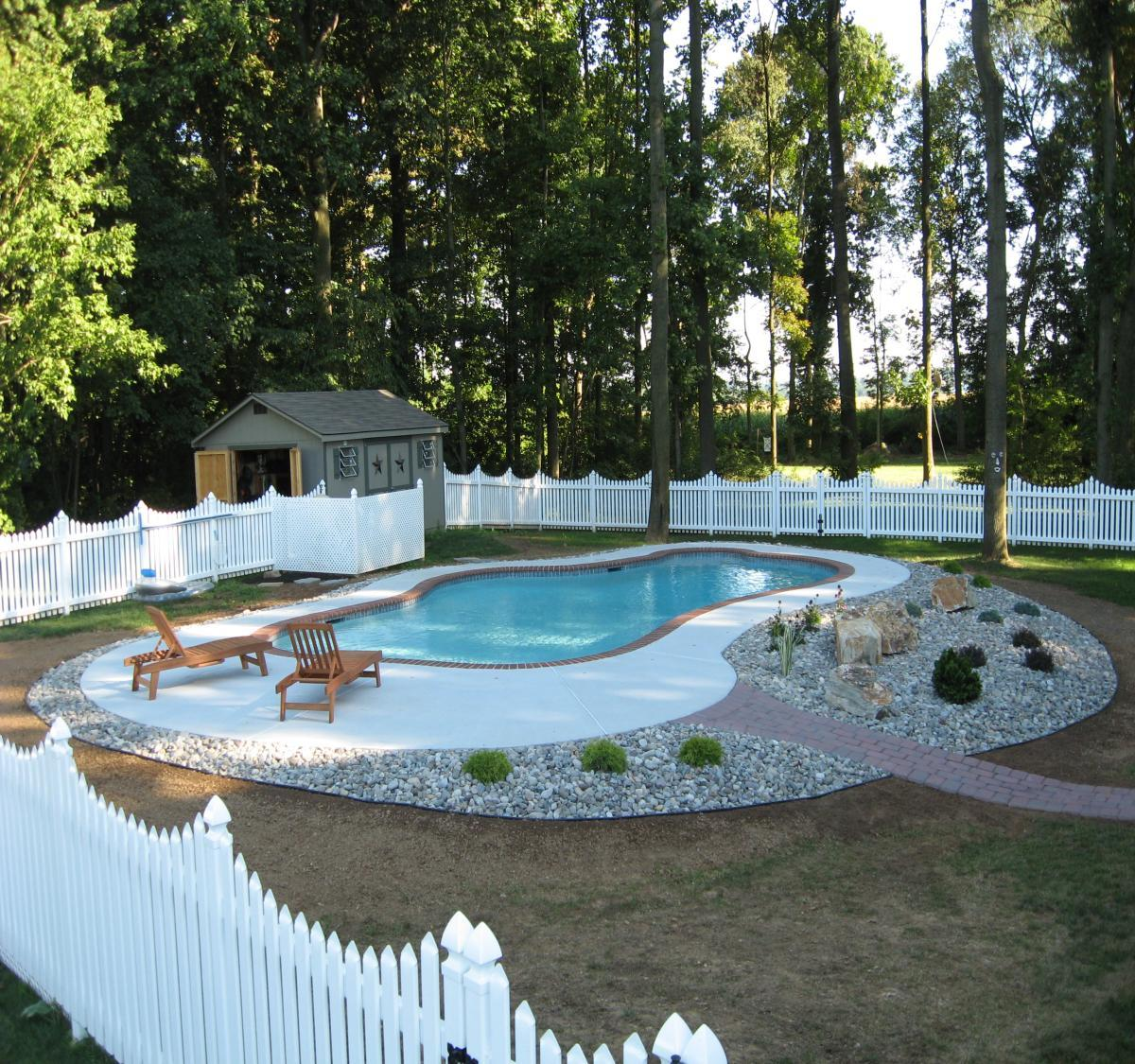 Low maintenance landscaping around pool design and ideas for Decor around swimming pool