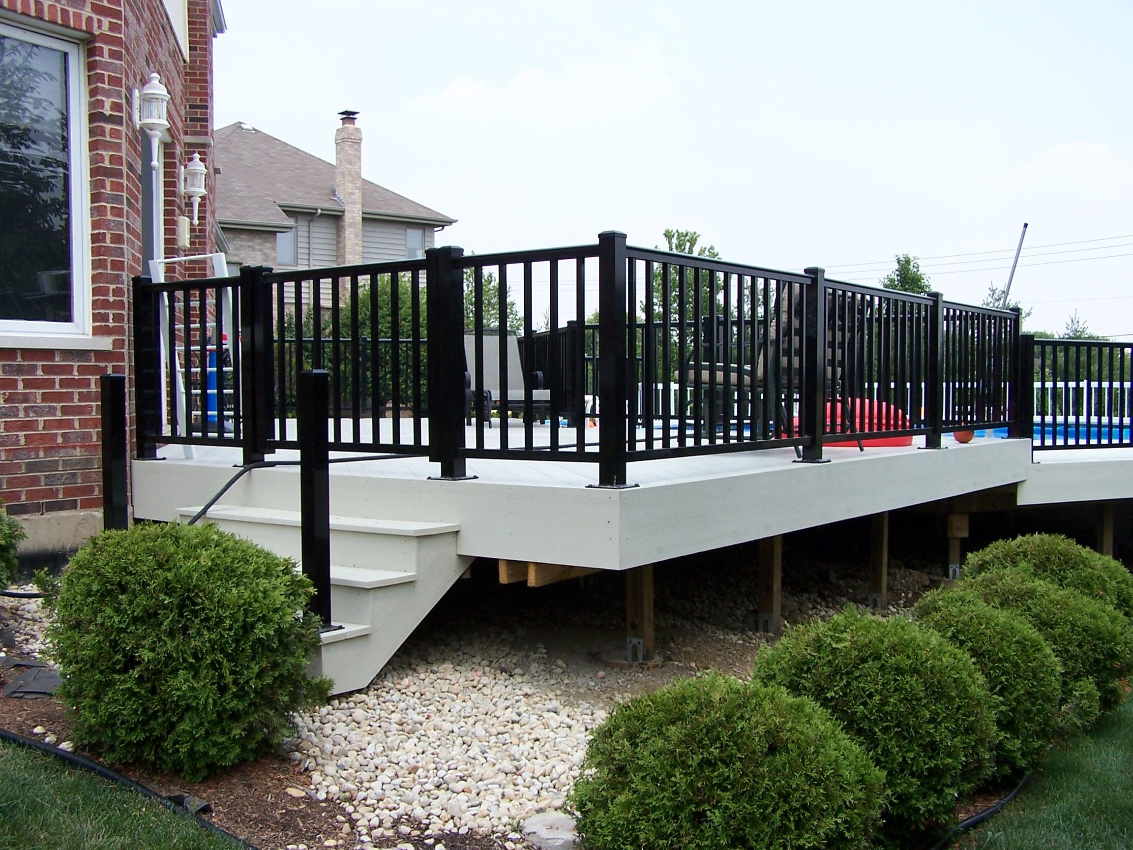 Metal Deck Railing Home Depot Design And Ideas