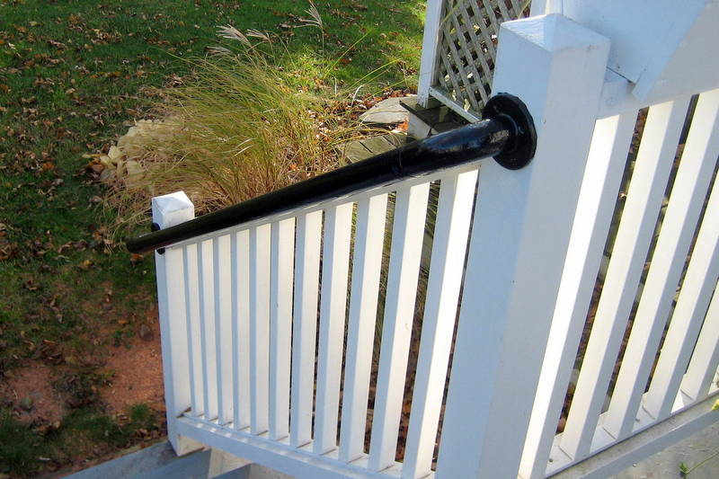 metal deck railing installation