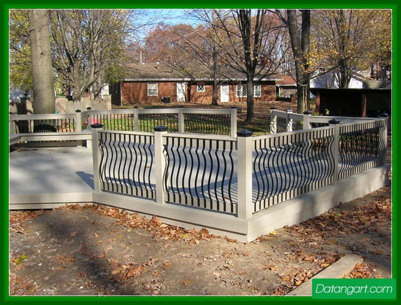 Building metal deck railing design and ideas
