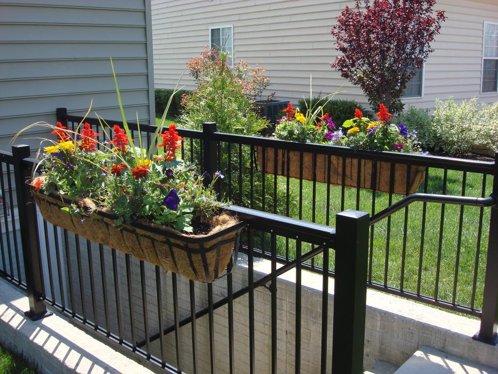 Metal deck railing lowes design and ideas
