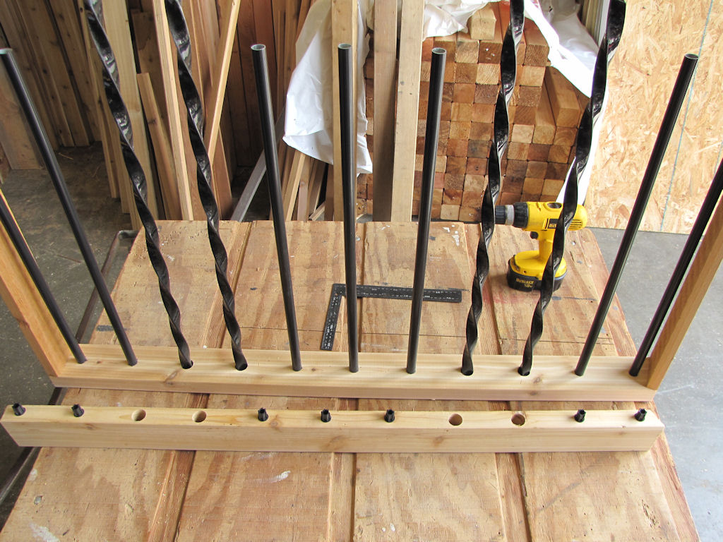 metal deck railing spindles