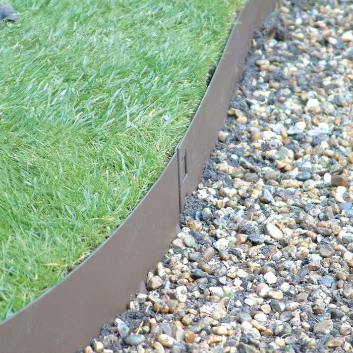 metal landscape edging brown