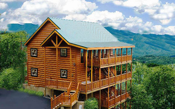 Vrbo cabins in pigeon forge tn eagles rest 4 bedroom for Cabins near gatlinburg tn