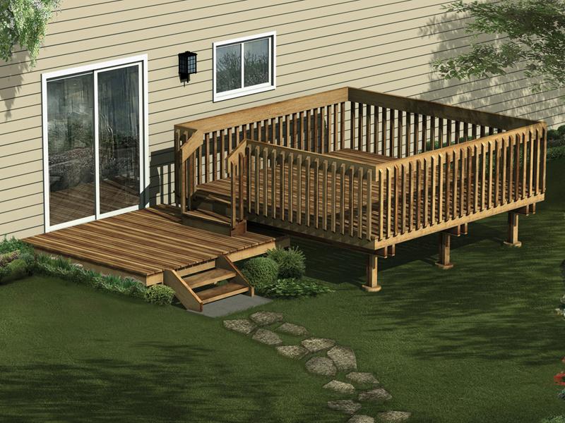 Multi level deck plans free design and ideas for Deck designer free