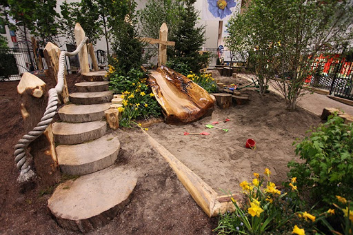 natural playground ideas for backyard