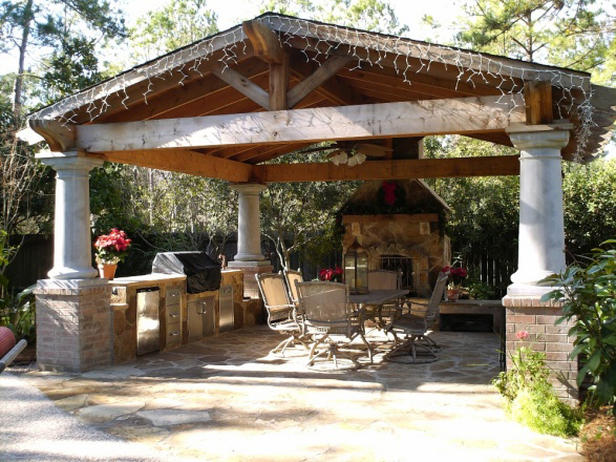 Outdoor Covered Patio Plans Photo   3