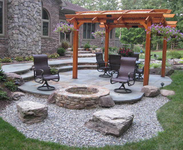 Captivating Outdoor Fire Pit And Patio Ideas Photo   2