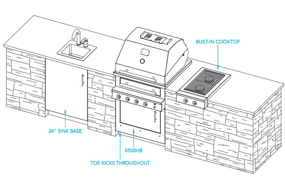 Outdoor kitchen designs the havana design and ideas for Outdoor kitchen cad drawings