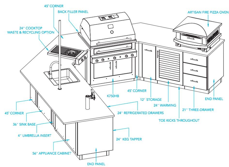 Outdoor Kitchen The Bistro K750hb