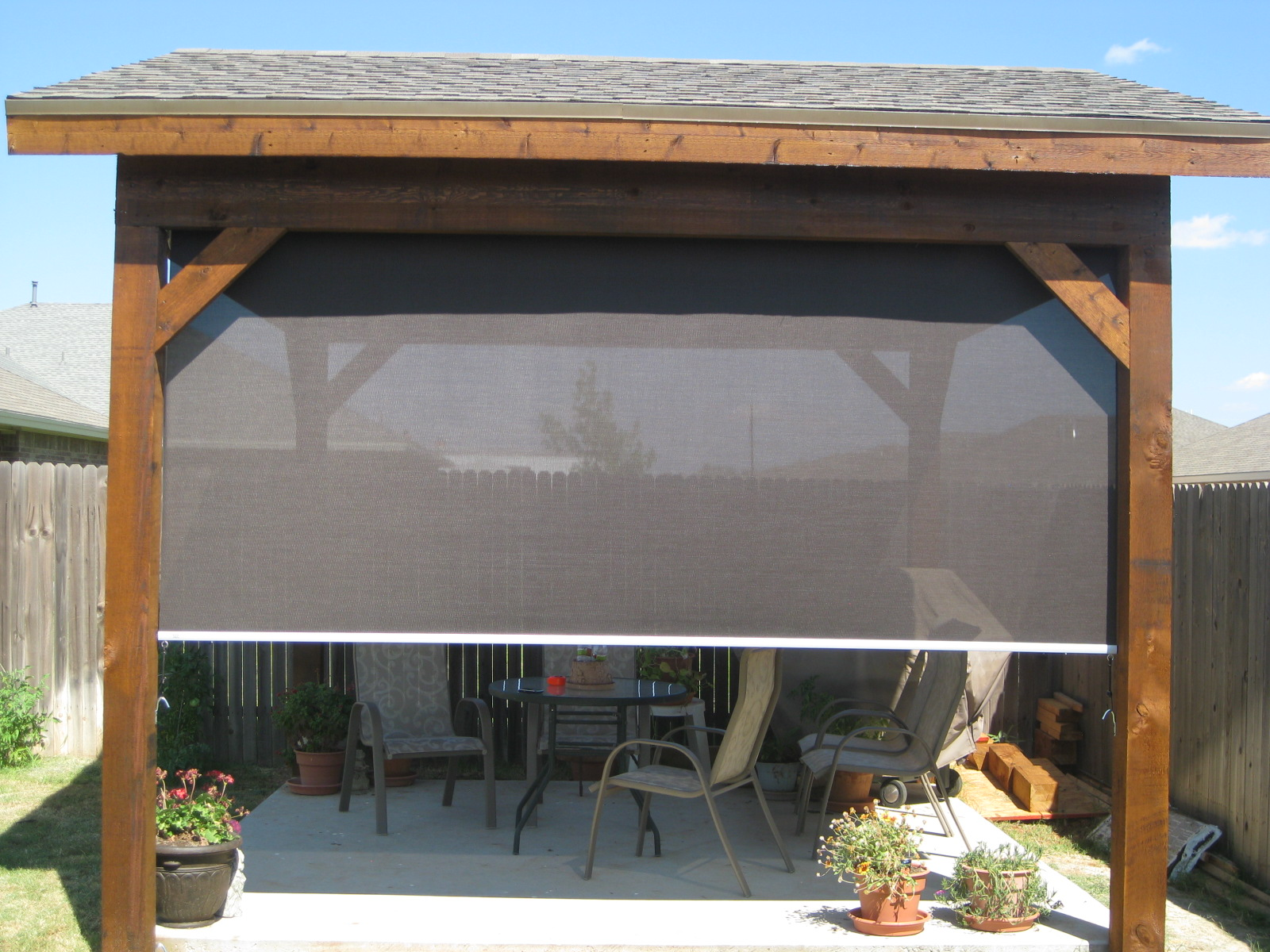 outdoor patio blinds shades
