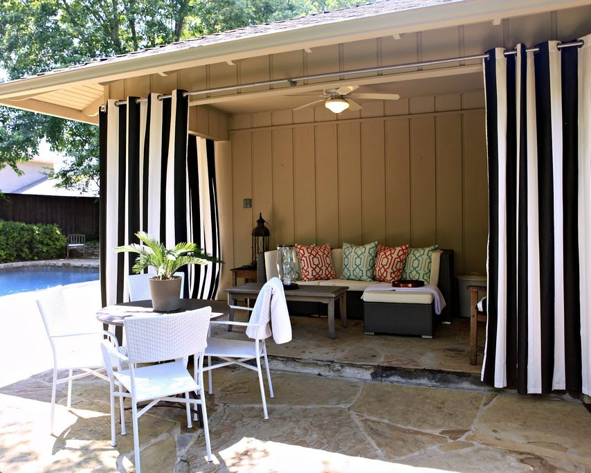 Outdoor Patio Curtains Drapes Photo   2