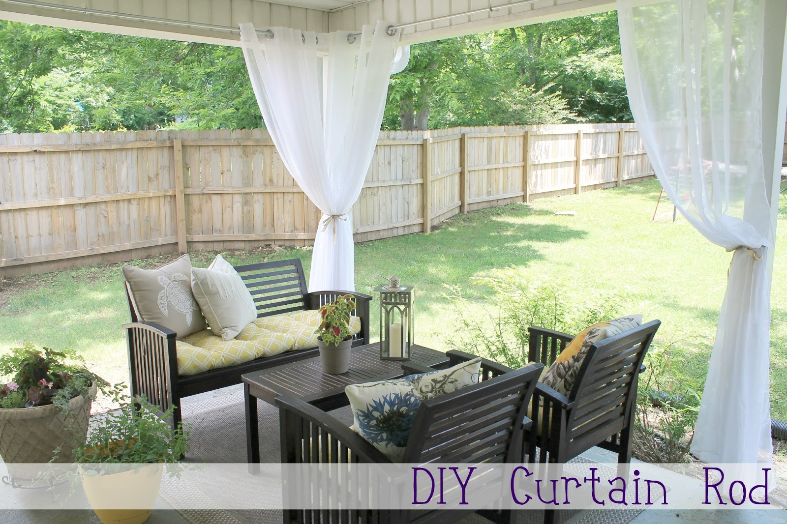 Outdoor Patio Curtains Rods Photo   2