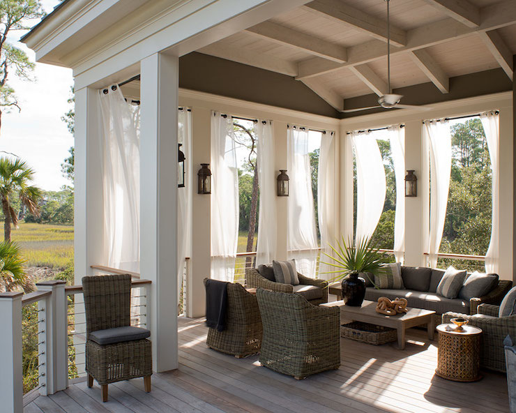 Elegant Outdoor Patio Curtains Target Photo   3