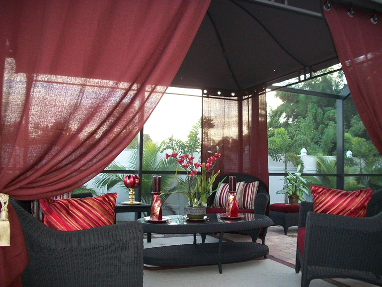 Charming Outdoor Patio Curtains Target Photo   2