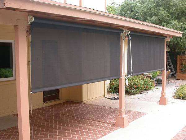 Attractive Outdoor Patio Shades And Blinds Photo   2