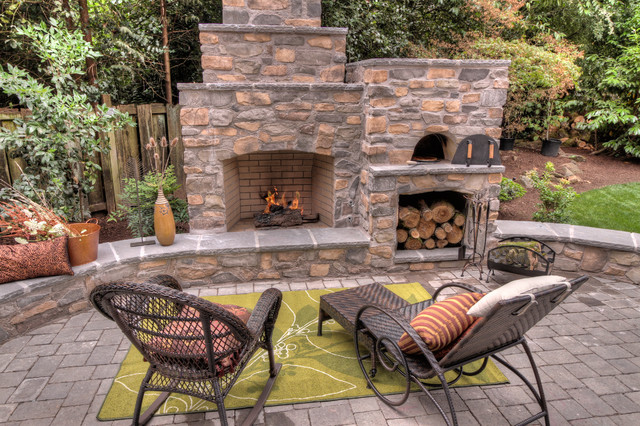 outdoor pizza oven and fireplace plan