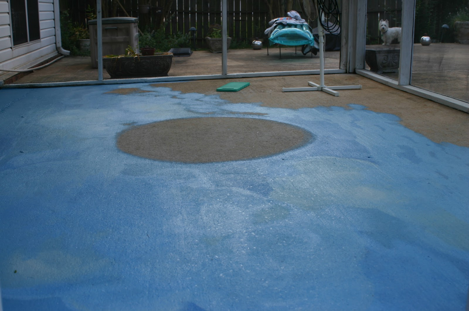 Painting a concrete patio to look like tile design and ideas for Concrete block floor