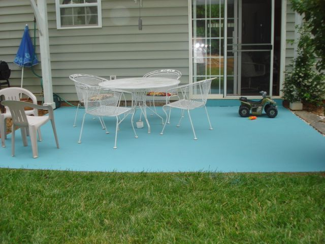 Painting Concrete Patio Furniture Photo   3