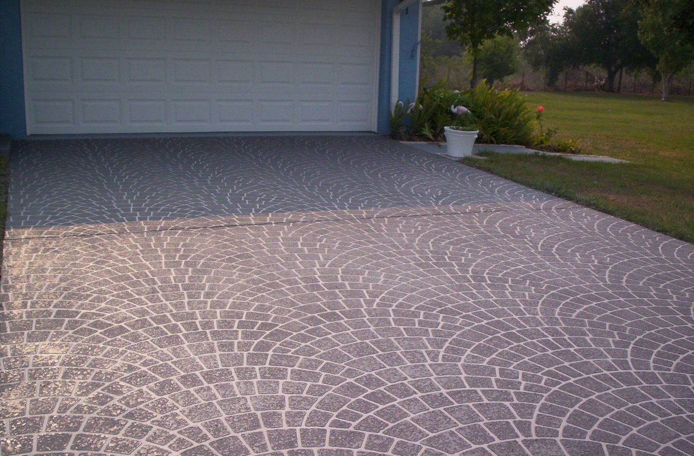 painting concrete patio stencil design and ideas
