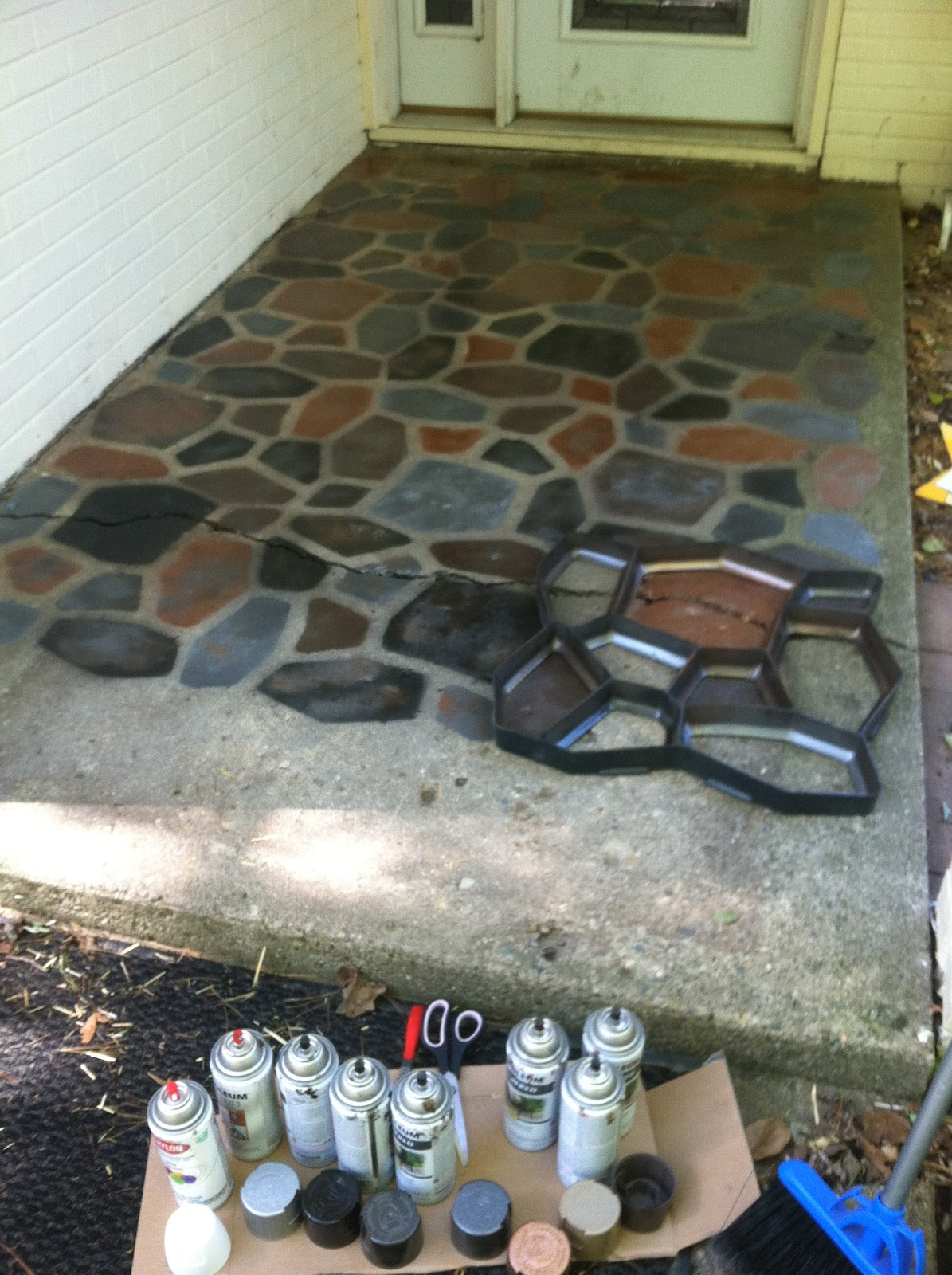 Painting A Concrete Patio To Look Like Tile Design And Ideas