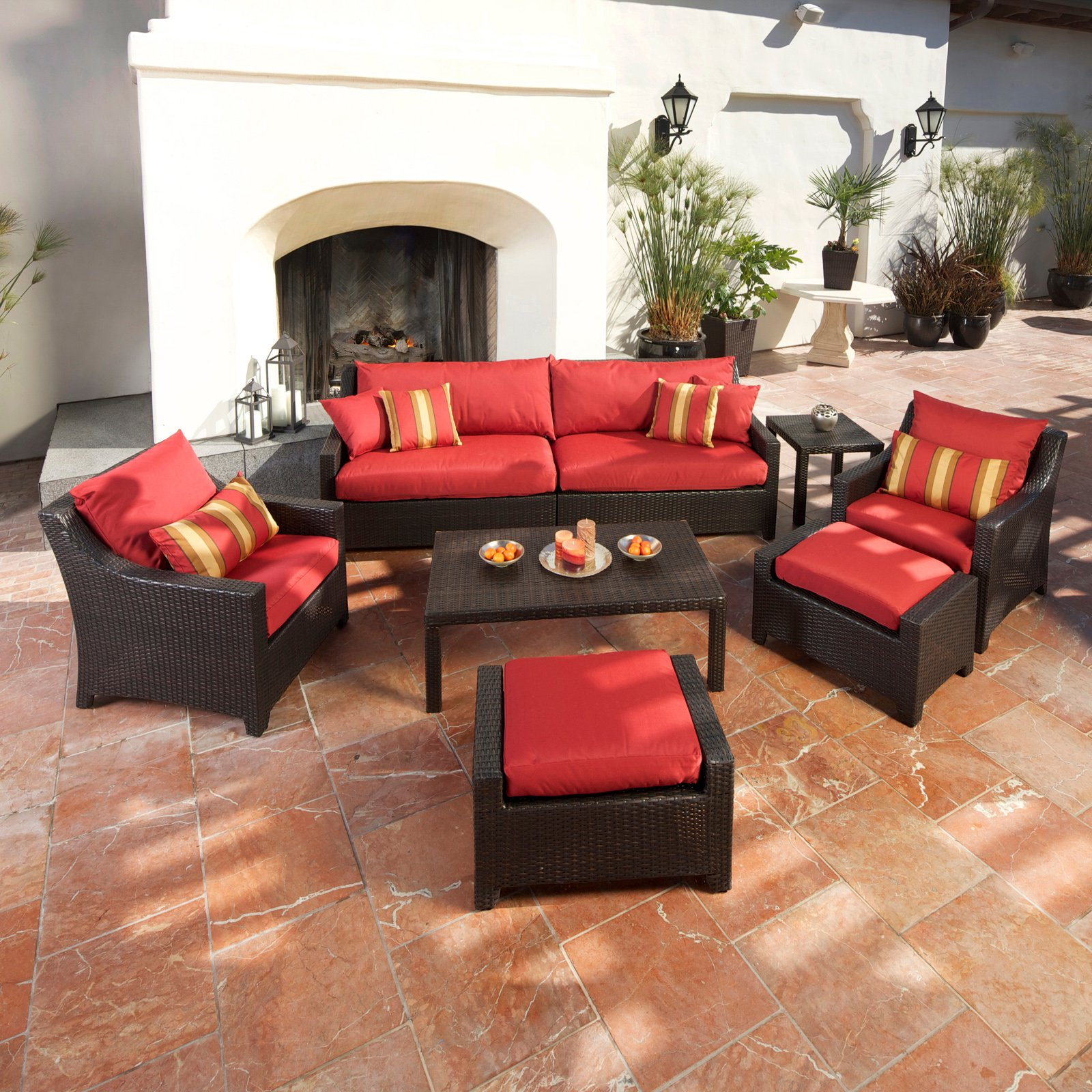 Patio Conversation Sets With Ottoman