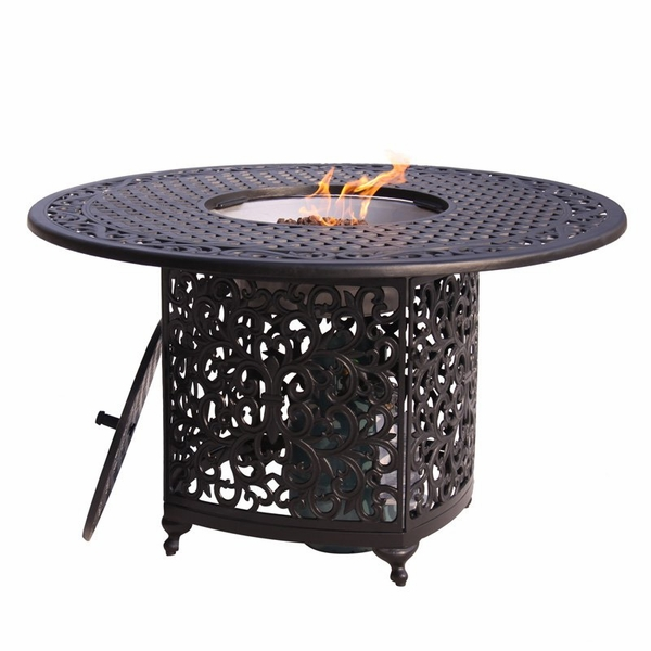 patio fire pit dining table  photo - 2