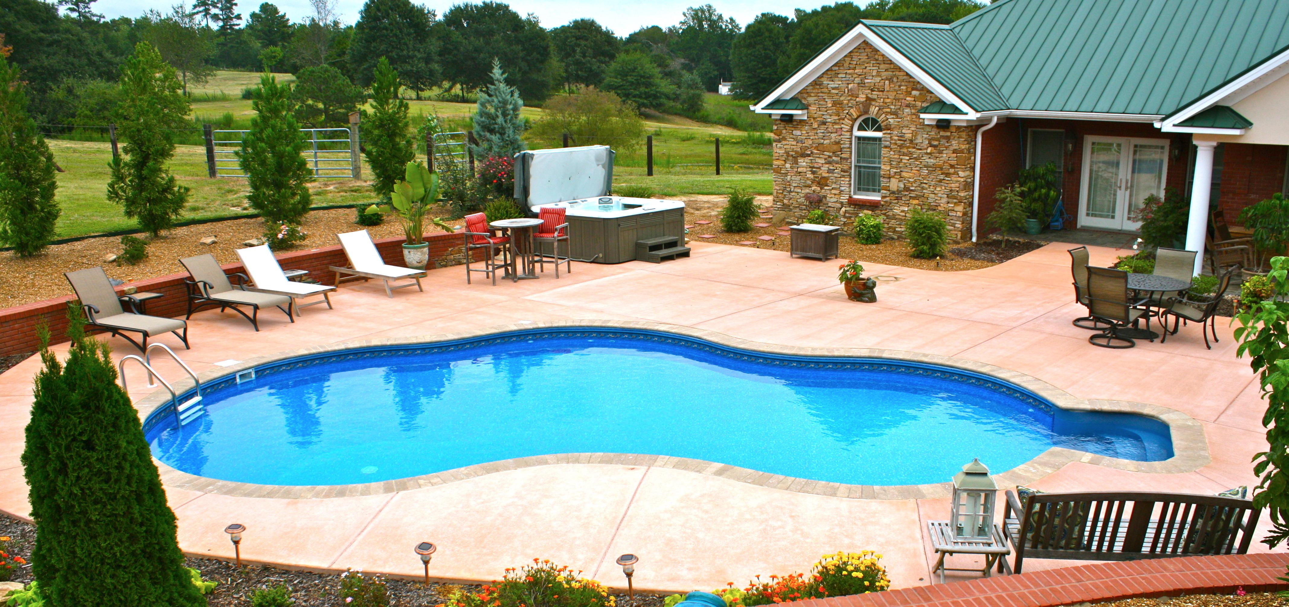 Patio ideas for pool area design and ideas for Pool area decor